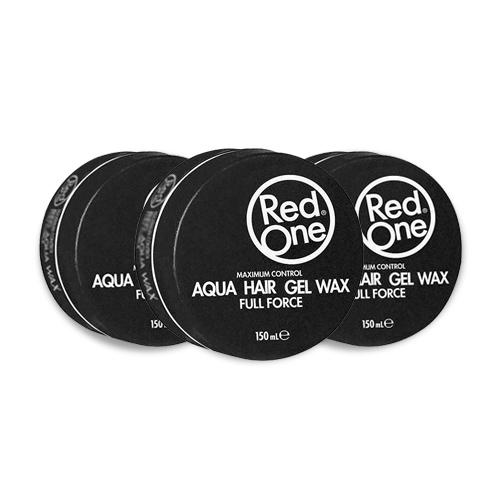 3x Red One Gel Wax Aqua Zwart Voordeelpakket