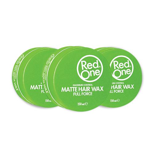 3x Red One Wax Matte Green Voordeelpakket