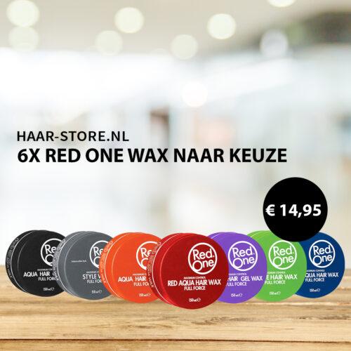 6 x Red One Wax Naar Keuze